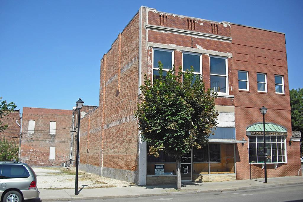 Lewis building, built circa late 1880s.
