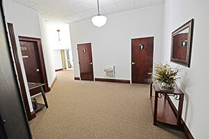 Lewis Building, Shared Waiting Area with Restrooms