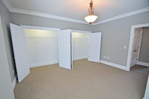 The third bedroom has two wall to wall closets.