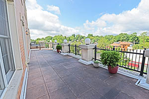 The Kirkwood, Uptown Royale, terrace is 40 feet long and offers excellent views.