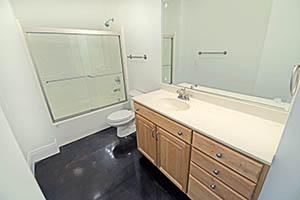 The Kirkwood, Uptown Senate, bathroom 2 has a spacious sink.