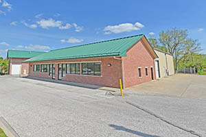 1185 W. 2nd Street, Exterior, Spring, Warehouse Parking Area