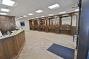 Fountain Square, Suite 120, Interior Display Cabinets & Reception Desk