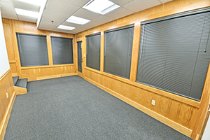 Fountain Square, Suite 232, has a spacious reception area to welcome clients.
