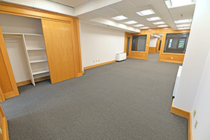 Fountain Square, Suite 239, provides a spacious private office that adjoins another private office.