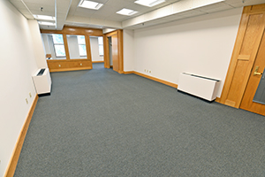 Fountain Square, Suite 239, office 1, second view leads into the adjoining private office.
